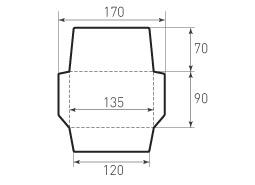 Горизонтальный конверт 135x90