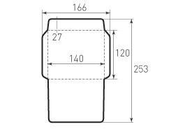 Горизонтальный конверт 140x120