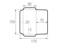 Горизонтальный конверт 150x80