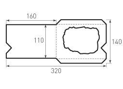 Горизонтальный конверт 160x40 с окном