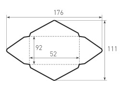 Горизонтальный конверт 92x52