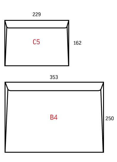 Размеры календарей C5, B4