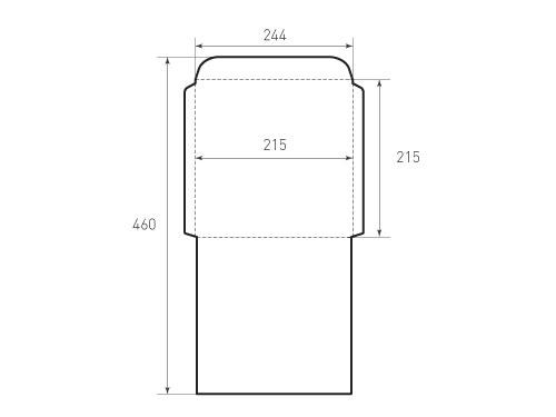Квадратный конверт 215x215