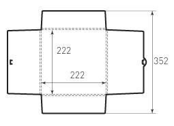 Квадратный конверт KD 222x222x5