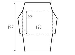 Конверт горизонтальный 120x92
