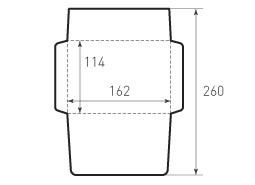 Конверт горизонтальный 162x114
