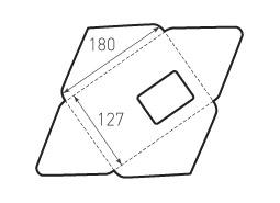 Горизонтальный конверт 180x127