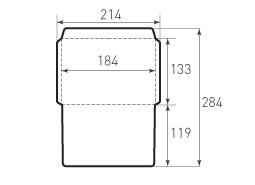 Горизонтальный конверт 184x133