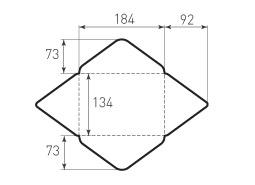 Горизонтальный конверт 184x134