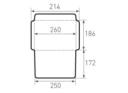 Горизонтальный конверт 186x260
