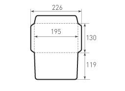 Горизонтальный конверт 195x130