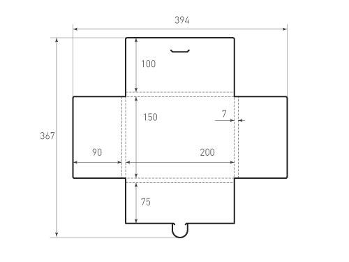 Горизонтальный конверт KG 200x150x7