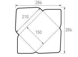 Горизонтальный конверт 210x150