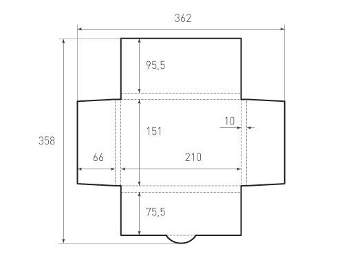 Горизонтальный конверт KG 210x151x10