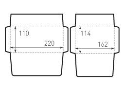 Конверт горизонтальный 220x110 и 162x114