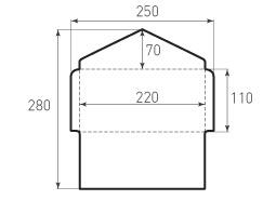 Горизонтальный конверт 220x110