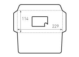 Конверт горизонтальный KG 229x114