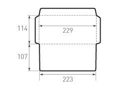 Горизонтальный конверт 229x114