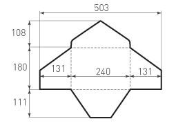 Горизонтальный конверт 240x180