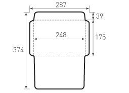 Горизонтальный конверт 248x175
