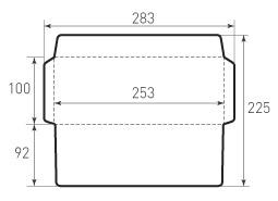 Горизонтальный конверт 253x100