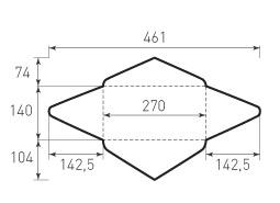 Горизонтальный конверт 270x140