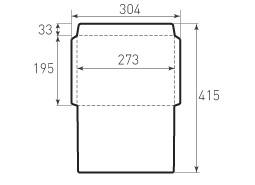 Горизонтальный конверт 273x195