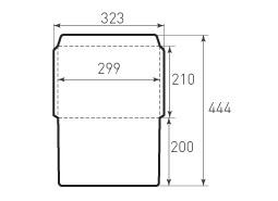 Горизонтальный конверт 299x210