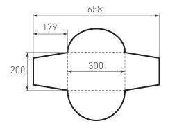 Горизонтальный конверт 300x200