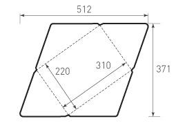 Горизонтальный конверт 310x220