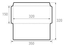 Горизонтальный конверт 320x150