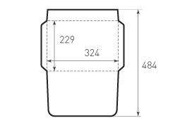 Конверт горизонтальный KG 324x229