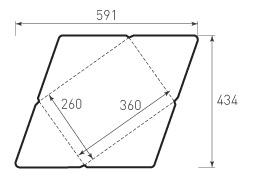 Горизонтальный конверт 360x260