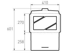 Горизонтальный конверт 410x270 с окном
