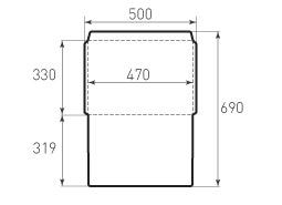 Горизонтальный конверт 470x330