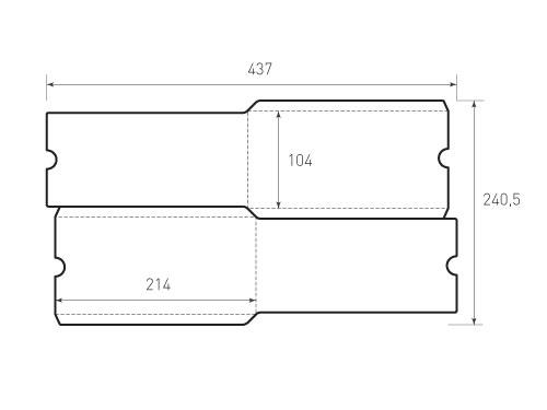 Вертикальный конверт 104x214