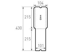 Вертикальный конверт 104x215 с отверстиями