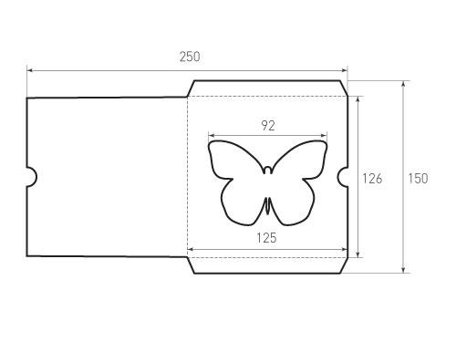 Вертикальный конверт бабочка 125x126