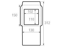 Вертикальный конверт 130x150 с окном