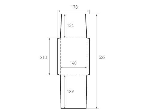 Конверт вертикальный KV 148x210