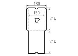 Вертикальный конверт 150x210 с окном в виде чашки