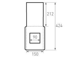 Вертикальный конверт 150x212 с окном