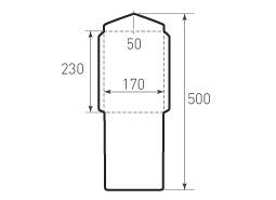 Вертикальный конверт 170x230