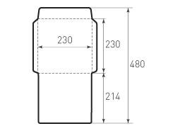 Вертикальный конверт 230x230