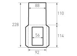 Вертикальный конверт 92x114