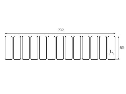 Скругление 50x15