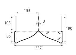 папка ФС 155x105x3 2 кармана