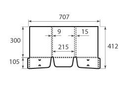 папка ФС 215x300x15 c карманами