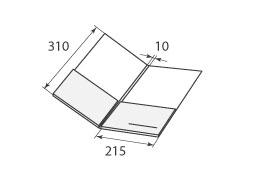 папка ФС 215x310x10 с 2 карманами