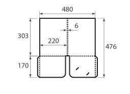 папка ФС 220x303x6 2 кармана